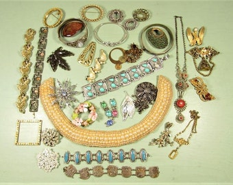 Harvest Repair Craft Jewelry Lot - Vintage 35 Pieces