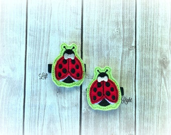 Ladybug hair clip Bug Hair Clip insect Hair clippie cutie  Pick one or two. Pick Left side or Right.