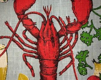 Fallani & Cohn Lobster Cookout Linen Kitchen Dish Tea Towel ~ Ryans