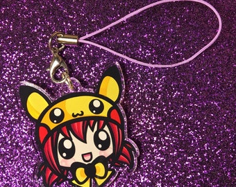 "Pikachu Hatgirl 1.5"" Charm"