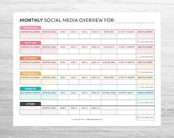 Monthly Social Media Overview