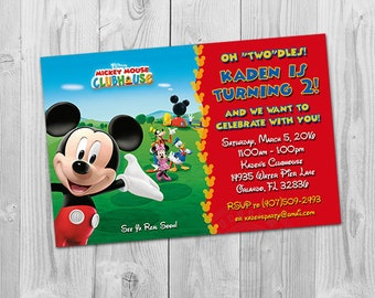 Mickey Mouse Clubhouse Invites, Mickey Mouse Clubhouse Birthday Invites Printable