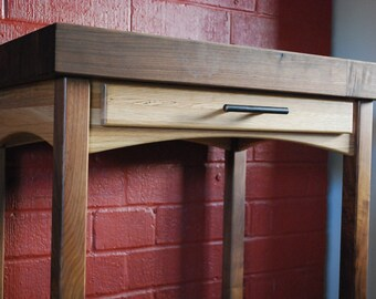 Butcher Block Cart - Great for a Small Kitchen - Walnut and Oak