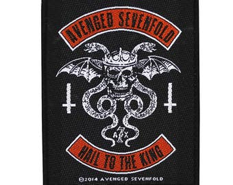 "A7X Deathbat Insignia ""Avenged Sevenfold Hail to the King"" Sew-On Applique Patch"