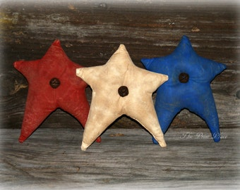 Primitive Star Bowl Fillers ~ Red White and Blue ~Americana Decor ~ Patriotic Decor ~ 4th of July ~ Memorial Day ~ Primitive Decor ~ Ornies