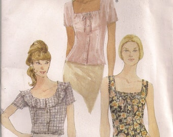 Vogue Sewing Pattern 9853 - Misses' Blouse (8-12)
