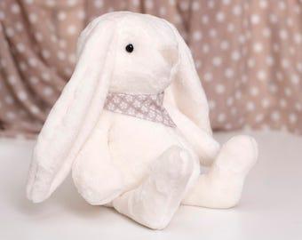 Plush Bunny toy Soft Easter Fluffy Bunny Rabbit Animal Unisex gift for children baby shower