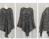 Black and White Crochet Poncho