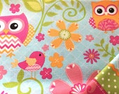 Insulated Casserole Carrier, Bright Owls on Blue, Personalization Available