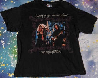 Jimmy PAGE & Robert PLANT Led Zeppelin Classic Rock T-Shirt Size L