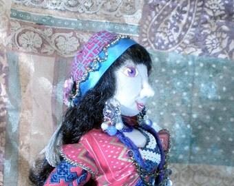 2015 Hoffman Challenge entry Valentina 19 inch cloth art doll