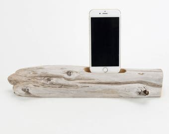 Docking Station for iPhone, iPhone dock, iPhone Charger, iPhone Charging Station, iPhone driftwood dock, wood iPhone dock/ Driftwood-No. 982
