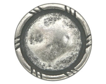 4 Rusticana 11/16 inch ( 17 mm ) Metal Buttons Antique Silver Color