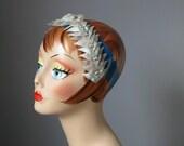 Blue Headband / Vtg 50s /...