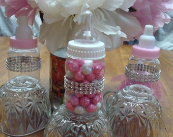 Baby Bottle Favors Bling Decorations; Princess Baby Shower Favors; Baby  Bottle Favors; Guest