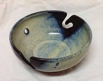 20% Off!  Stoneware Yarn Bowl- Stone Penguin Pottery