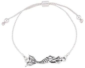 Mermaid Bracelet, mermaid, little mermaid, mermaid jewelry, silver mermaid, silver mermaid bracelet, bracelet, ocean bracelet, animal bracel