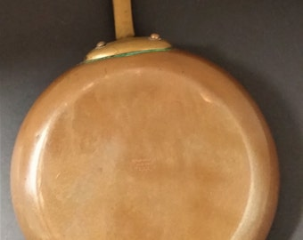 Vintage Bazar Francais New York 666 Copper Saute/Skillet With Brass Handle Copper Professional Chef Saute/Skillet/Fry Pan