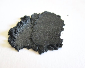 CHARCOAL Mineral Eye Shadow: Natural Vegan Makeup Color, Large Size