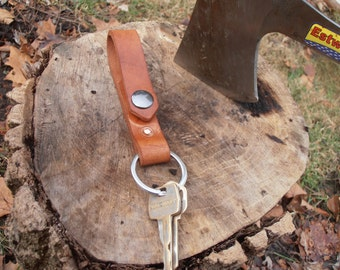 Leather Belt Loop Key Chain, Keychain, Key Lanyard, Key Carrier
