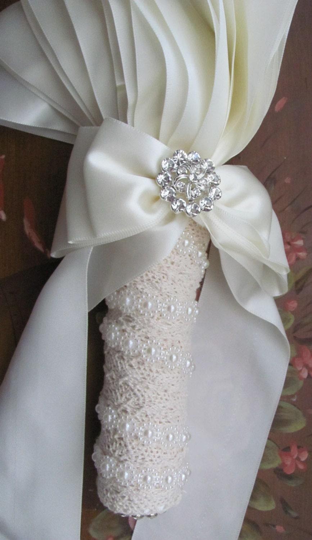 Bridal Bouquet Handle, Wedding Bouquet Holder, Diy Bouquet Holder Includes Flower -2956