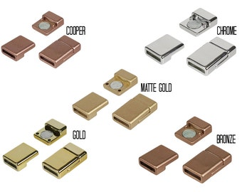 10mm flat ACRYLIC magnet, Jewelery Clasps for Bracelets, Leather Design Supplies - Gold, Chrome, Black, Bronze, White