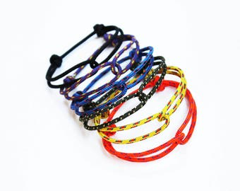 Set of 6 - Unisex Hugging Loop Rock Climbing Bracelet