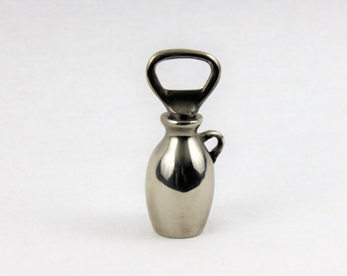 """Vintage Silver The """"Little Brown Jug"""" Antique Corkscrew &  Bottle Opener"""