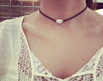 Pearl Solitaire Choker Necklace