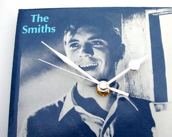 "The SMITHS Record Sleeve CLOCK. ""What Difference Does It Make"" from original Terence Stamp 7"" vinyl sleeve Morrissey cover blues cool gift"