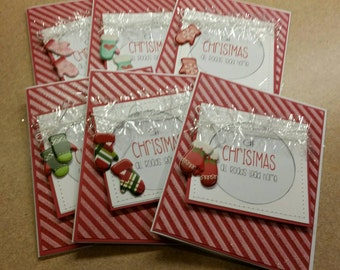 Set of 6 Christmas cards
