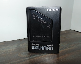Vintage Sony Walkman Portable WM-F2095 Am/Fm Radio Only