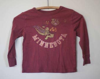 vintage minnesota gophers child tee size 5