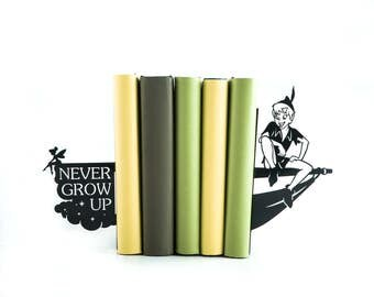 Bookends Peter Pen // Tinker Bell // Never grow up //Kid's Room Decor // Nursery  // Free Shipping // Metal decorative bookends // Gift