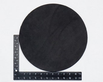 """12"""" Rounder Pre-Cut, Black Drum Dyed Hermann Oak Leather Tooling Pieces # 100-"""