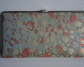 Clutch purse, silk brocade handbag, vintage Japanese purse