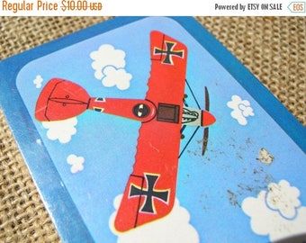 Red Baron Playing Cards - Vintage Deck of Cards - Airplane Cards - Vintage Playing Cards