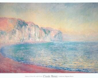 Claude Monet-Falaises a Pourville, Soleil Levant-1992 Poster