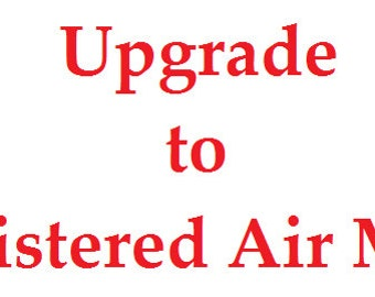 Shipping Upgrade: Upgrade to Registered Air Mail