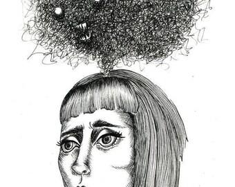 "Original Illustration 5x7"" - Haunting Nightmares"