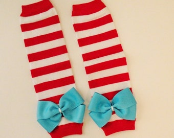 Leg Warmers, Red Leg Warmers, Red and White Leg Warmers, Girls Leg Warmers, Toddler Leg Warmers