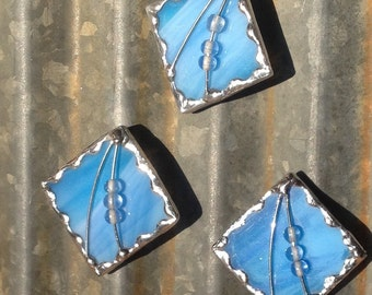 Magnet, Blue Stained Glass Kitchen Magnet