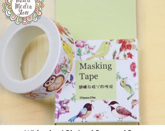 Whimsical Birds Washi Tape - So pretty for your planner & art journal pages!