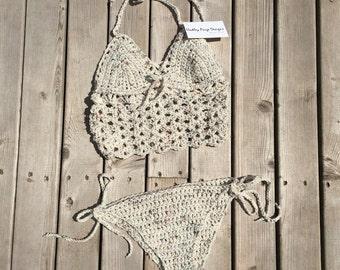 Sedna women's bikini set.  Beach. Festival.  Bohemian. Made in Canada.  Custom Colors & size.  Worldwide shipping.