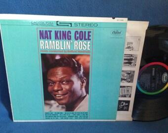 "Vintage, Nat King Cole - ""Ramblin Rose"", Vinyl LP, Record Album, Original 1962 First Press, International Jazz Men, Goodnight Irene, Soul"