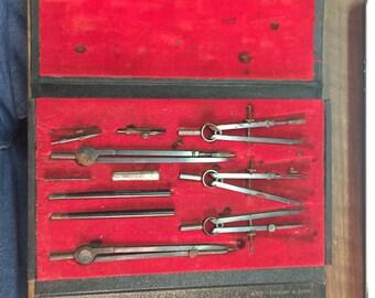 Antique Draftsman Tools - Circa 1930s