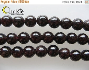 55% OFF Red garnet round beads 12mm 6inch strand