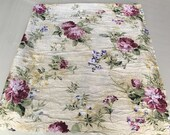 Crinkled Crepe Floral tablecloth, banquet table linen, long table cover, credenza top, spring purple, pink, blue, mothers day gift