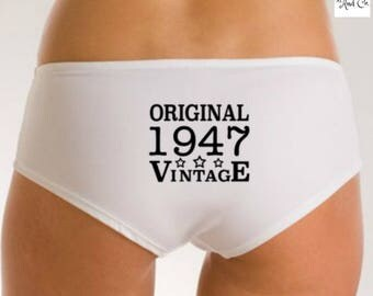 70th Birthday Idea, 70th Birthday Panties, 70th Birthday Gift, 70th Funny Gift, 1947 Birthday Knickers, 70 Birthday Gift for Her, 1947