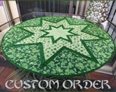 St Patrick's Day Quilted Table Topper Quilt 697